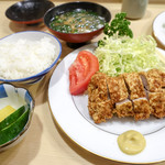 とんき - ヒレカツ定食セット