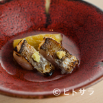 匠 進吾 - 料理写真:茄子の風味が寄り添う『カマスと茄子の焼き浸し』