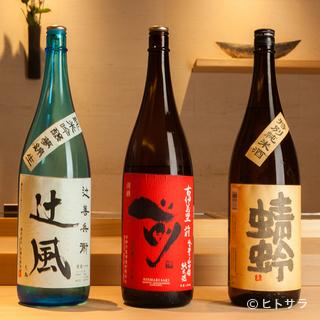 料理の味を引き立てる米の旨みとキレのある日本酒