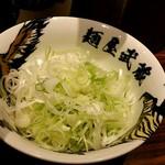 麺屋武蔵 鷹虎 - トッピングのネギ‼
