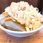 魔人豚 - ラーメン 750円250g ヤサイニンニクアブラマシ