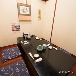 大事な食事会を開くときには、個室をご利用ください