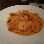 cafe&dining ballo ballo - 小エビとアボガドのトマトクリームソーススパゲティ