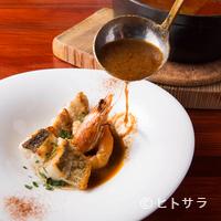 ビストロ・シンバ - スープと具材、両方の魅力を際立たせる『魚介のスープ仕立て ココットで』(2名様より)
