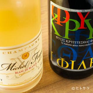 メニューの丁寧な解説がうれしい自然派ワインのランナップ