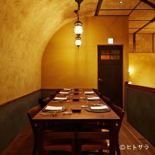 海外からの大切なゲストとの会食にも使える雰囲気と上質さ