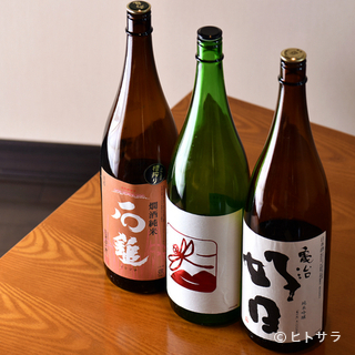 つくり手のこだわりが感じられる日本酒が楽しめる