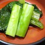 虎ノ門 いしゐ - 香の物は高菜