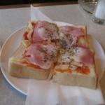 ユタカ - ベーコン&チーズのトースト