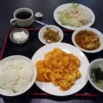 66051348 - 玉子とエビチリソース炒め定食