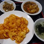 66051350 - 玉子とエビチリソース炒め定食