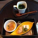 音音 - 前菜四種盛り合わせ&スープ