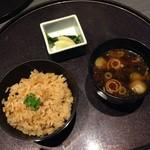 音音 - 竹の子の炊き込みご飯 赤出汁 香の物