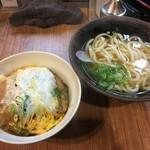 松屋うどん - カツ丼セット