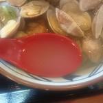 丸亀製麺 - 美味しい出汁です