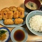 ファイト餃子 - 餃子定食 10コ