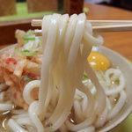 都そば - かき揚げ天うどん・関西出汁(380円)+生玉子(サービス)