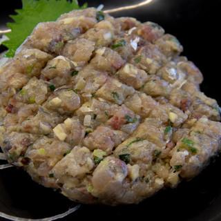 ばんや - 料理写真:アジなめろう(900円)