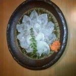 福善 - 料理写真:カワハギのお刺身