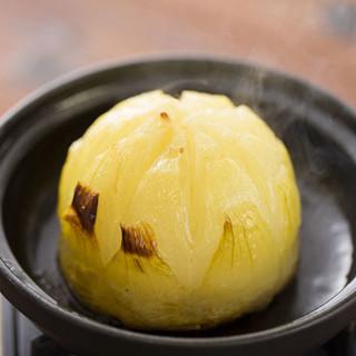 「淡路島たまねぎ」島のうま玉~淡路牛肉みそ添え~