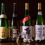 鉄板焼 みつい - 純米酒を中心に、常時40種以上の日本酒が勢揃い!
