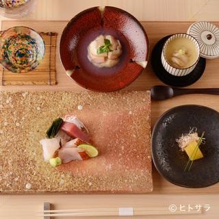 基本料理は「お任せコース」のみ。それぞれの魚の美味しさを抽出
