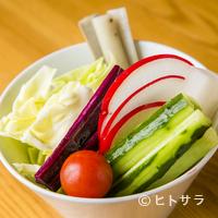 六覺燈 - 可能な限り、無農薬で育てられたものを取り入れている『野菜盛り』