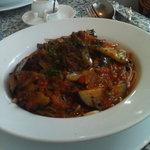 カプリッチョ - Aランチ パスタ(ナス、黒オリーブ、ケイパーのトマトソース)