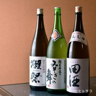 道内を中心とした約30種の日本酒。地元のみ流通する希有...