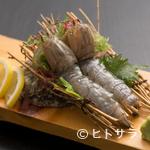 福ずし - 珍しい逸品! 博多湾で獲れる『幻の生シャコ刺身2匹』