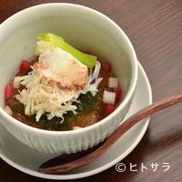 蕎麦恵土 - するりとした喉越しの『蕎麦豆腐 毛蟹と土佐酢ゼリー』