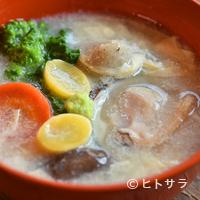蕎麦恵土 - お汁がふんわり鼻孔をくすぐる『蕎麦がき 蛤の湯葉あん』