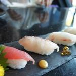 66073458 - 県産魚の食べ比べ