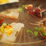 ベジョータコンチャ - 愛媛県産真鯛・ホタルイカ・カルパッチョ盛り合わせ ¥1,380