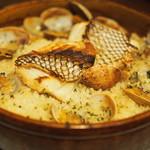 ベジョータコンチャ - 「パエリヤ」真鯛の土鍋ご飯 バスク風Mサイズ ¥1,580