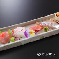 とよなか桜会 - これ以上ない新鮮な海の幸を堪能、泡醤油でいただく「お造り」