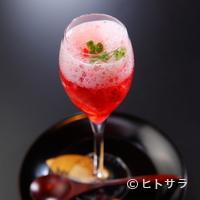 とよなか桜会 - 春限定の味わい、フレッシュな苺とラズベリーの春薫る『シャンパンゼリー』
