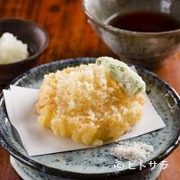 東白庵 かりべ - サクッとした食感の中に芳しい香りと旨みが広がる『天だね』