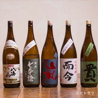 店主と同世代の杜氏が醸す、通好みの日本酒