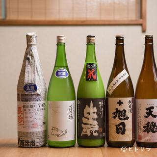 肴を引き立てる純米酒のほか、さまざまな要望に沿う日本酒も