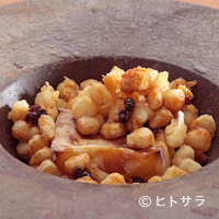 ごだん 宮ざわ - 『とうもろこしの焼胡麻豆腐』は定番としてお出ししています