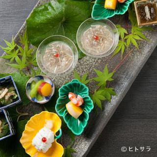 【清和荘】のためにつくられた無農薬野菜など厳選された素材たち