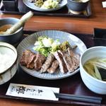 牛たん欅 - 牛たん定食(4枚)