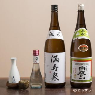 白焼きなどの一品料理と楽しみたい、いぶし銀揃いの日本酒