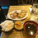 66081265 - 餃子2人前+ごはん+スープ