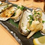 ひょうたん寿司 - あげ巻貝塩焼き