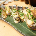 ひょうたん寿司 - マテ貝塩焼き