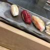 鮨処みやざき - 料理写真:最初に出されたにぎり 左から いか、漬けマグロ、鯛