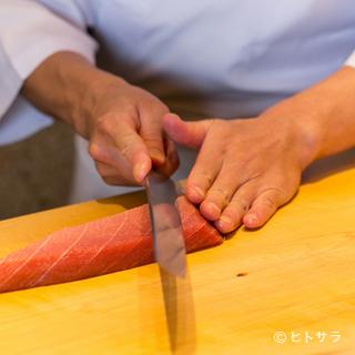 寿司は鮮度が命。確かな目利きで旬魚を厳選