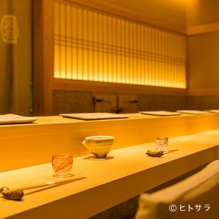 カウンター席ならではの特別な時間を極上の寿司と日本酒で乾杯